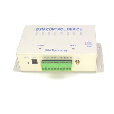 Bộ điều khiển Smart Control GSM - mặt hông có gắn sim - mặt trước có gắn anten và domino